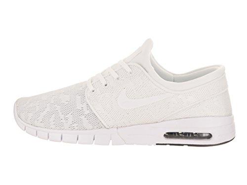 Nike Stefan Janoski Max, Chaussures de Skateboard Homme Blanc Cassé (Whitewhiteobsidian 114)