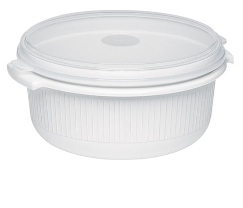 Emsa 450151200 Mikrowellentopf mit Deckel, 1,5 Liter, Kunststoff, Weiß, Micro Family
