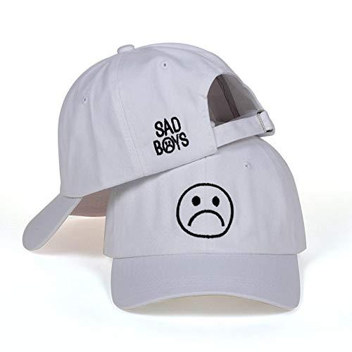 TIDYROU Sad Boys Honor Hut Crying Face Baseball CapHeadwear Schwarz Harajuku Skateboard Hüte Curve Brimmed Golf CapsWeiß