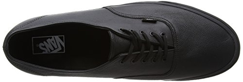 Vans Authentic Decon, Baskets Basses mixte adulte Noir (Premium Leather/Black/Black)