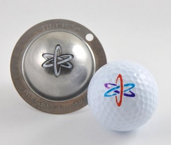 TIN CUP. GOLF BALL MARKER SYSTEM. NUKE IT.