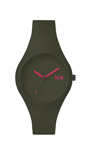 ICE-Watch - ICE.FT.OLV.S.S.14 - Ice Forest - Olive - Montre Mixte - Quartz Analogique - Cadran Vert - Bracelet Silicone Vert