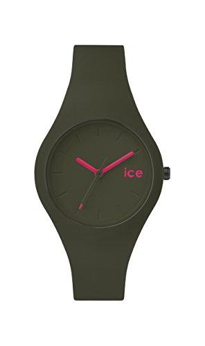 ICE-Watch - ICE.FT.OLV.S.S.14 - Ice Forest - Olive - Montre Mixte - Quartz Analogique - Cadran Vert - Bracelet Silicone Vert