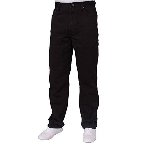 Blue Circle Herren GERADES Bein Einfach schwer Works Jeans Denim Hose alle Hüfte große Größen - Schwarz, 58W x 30L (Jeans Herren 58x30 Größe)