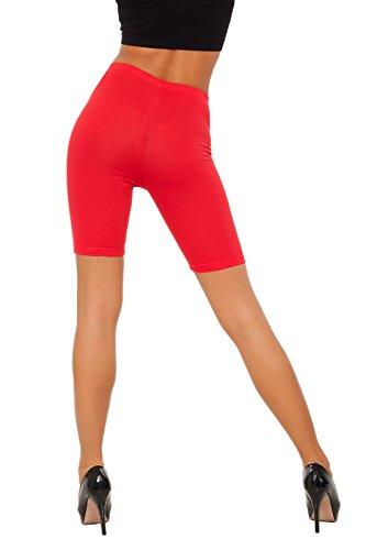 futuro fashion Leggings coton 1/2 longueur sur-genou Short actif Sport Pantalon décontracté LK Rouge