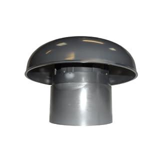 First Plast – Sombrerete de ventilación para tejado (plástico), color gris