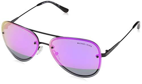 Michael Kors Damen LA JOLLA 1169F1 59 Sonnenbrille, Black/Blockfuchsiamirror,