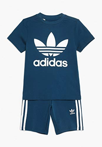 adidas Short Tee Set Apparel Others, Babys Baseballs M Blau/Weiß (Legend Marine/White) (Baby M Blau)