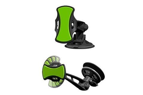Support universel de voiture pour produits électronique avec un tampon grippant - Mains libres: fixation pare-brise et tableau de