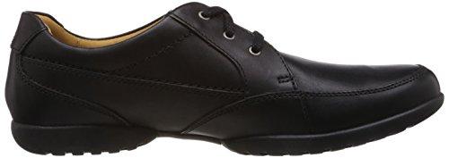 Clarks Recline Out, Chaussures de ville homme Noir (Black Leather)