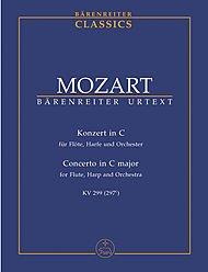 BARENREITER TASCHENPARTITUREN MOZART W.A. - KONZERT FUR FLÖTE, HARFE UND ORCHESTER C-DUR KV 299(297C) - STUDIENPARTITUR