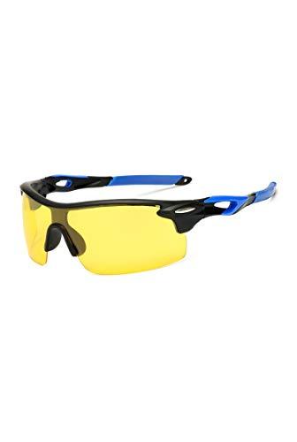 NauyGnol Gelbe Linse Nachtsicht Fahrbrille, polarisiert, reduziert Blendung Gr. Einheitsgröße, G10