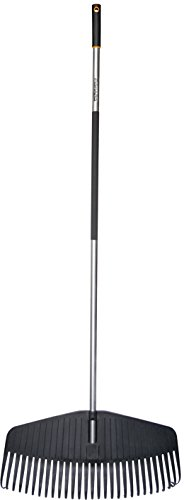 Fiskars Laubbesen, 29 Zinken, Breite 58 cm, Kunststoff-Zinken/Aluminium-Stiel, Grau/Schwarz, L, Ergonomic, 1000660