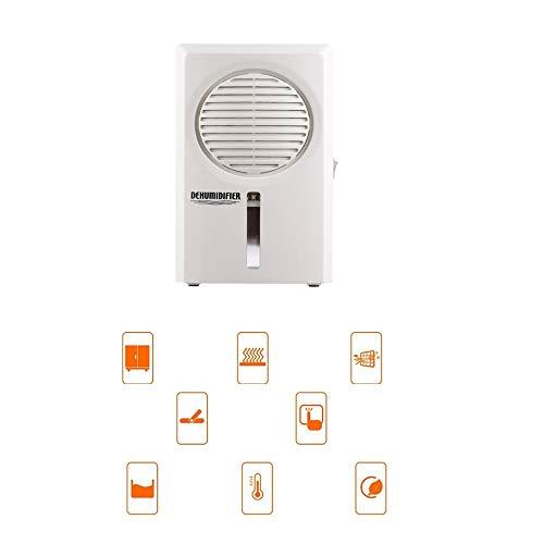 BMSGM Tragbarer Mini-Luftentfeuchter mit kleinem Nachtlicht-Funktion, der Formaldehyd-Wasserbehälter mit 0,6 Liter Weiß desodoriert