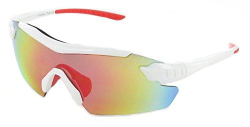 Evolution Eyewear Dynamo Radsport Sonnenbrillen (Weiß, Sunburst-Spiegel)
