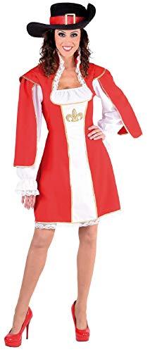 Musketier Kostüm Damen Rot - narrenkiste M217117-XXL rot-weiß Damen Musketier