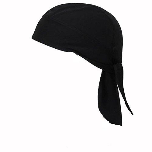 Vococal - Unisex Anti-Schweiß Kopftücher - Motorrad Bandana Hüte, Schwarz