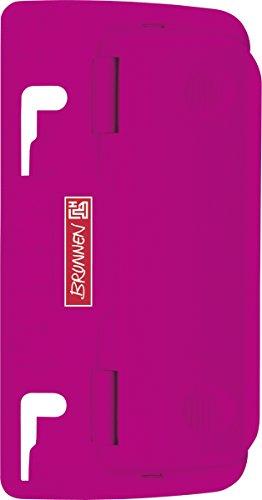 Brunnen 102065026 Taschenlocher Colour Code (zum Abheften, mit Linealprägung und Niederhalterfunktion) pink