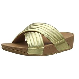 Fitflop Women's Padded Lulu Slide-Pu Open Toe Sandals, Gold (Artisan Gold 667), 6 UK (39 EU)