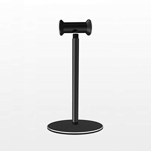 LJXWH Metallkopfhörer-Ständer-Aufhänger-Haken-Aluminiumstangen-Tischausstellungsstand für alle Kopfhörer-Größe, Rutschfeste Unterseite (Farbe : SCHWARZ)