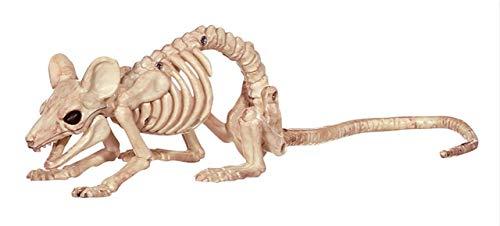 House Animal Party Kostüm - Halloween Dekoration Tiere Skelett Maus Hund Katze Widder Schädel Knochen Ornamente Halloween Horror Haunted House Party DekorationMaus C