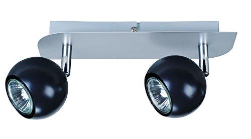 WOLTZ 812204 Double Spot Orientable, Métal, GU10, 35 W, Noir