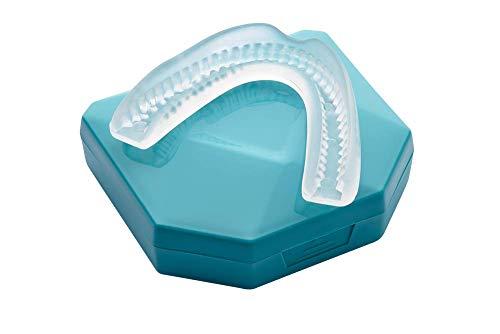 4 Stk Professional Aufbissschienen inkl. 2 Aufbewahrungsboxen BPA frei Zahnschutz beim nächtlichen Zähneknirschen Knirscherschiene Zahnschiene 100% ige Zufriedenheitsgarantie
