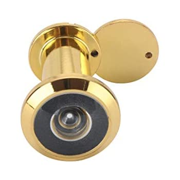 SECURIT S1652 DOOR VIEWER SPY HOLE 180 DEGREES BRASS