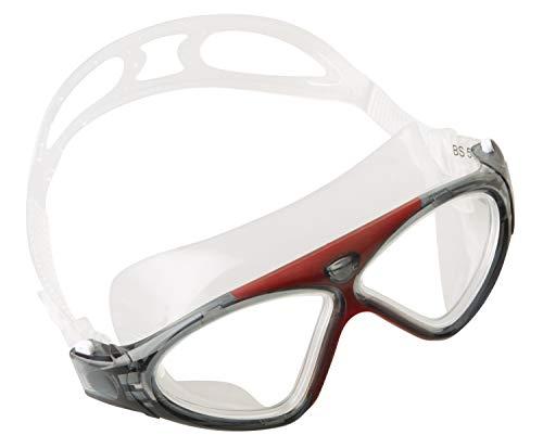 Seac Brille VISION HD Schwimmbrillen für Pool und Freiwasser für Damen und Herren rot one size