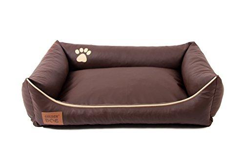 Hundebett Kunst Leder Luxus Hundebett Hundesofa Katzenbett Hundekorb S M L XL XXL XXXL Dollaro (XXXL ( ca. 150x115 cm), braun)