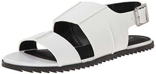 Kelsi Dagger Panther Cuir Sandales Pure White