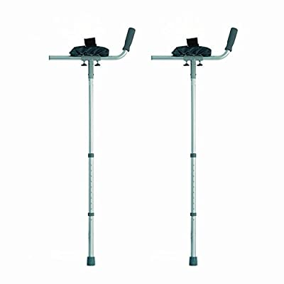 NRS Healthcare Arthritic Elbow Crutches with Trough Arm Supports - Pair (Eligible for VAT relief in the UK)
