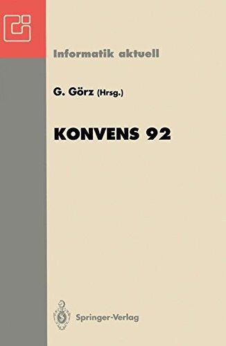 KONVENS 92: 1. Konferenz Verarbeitung natürlicher Sprache, Nürnberg, 7.-9. Oktober 1992 (Informatik aktuell) (German and English Edition)