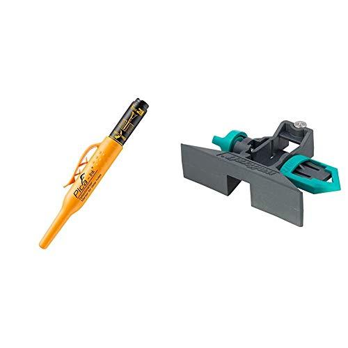Pyca Tieflochmarker Pica Ink, schwarz, 150/46 & Wolfcraft 5221000 Streichmaß für Zollstöcke -