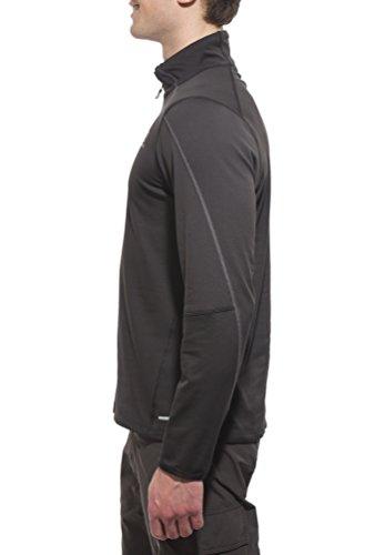 Salomon Discovery Herren-Sweatshirt, halber Reißverschluss Schwarz