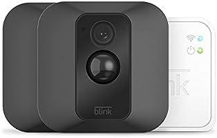 Sistema di telecamere Blink XT per la sicurezza domestica, avvisi di movimento sullo smartphone, video HD, alimentato a batteria, due telecamere XT