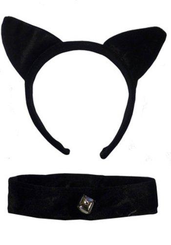 Katzenohren mit Kragen (Cat's Ears). Kostüm Accessoire fur Partys oder Fantasie-Spiele. Spaß und Süß