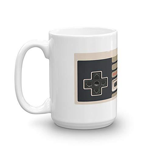 Controller-Gamepad – Oldschool 425 ml, Keramik, Weiß