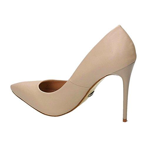 Klassische Damen Stilettos Pumps High Heels Plateau Schuhe Spitz Bequem 25 Beige
