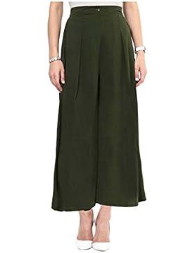 Indian Handicrfats Export Uptownie Lite Regular Fit Women's Green Trousers