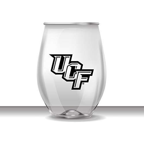 JAYMAC Central Florida ohne Stiel Bruchsichere Heavy Duty Wein Getränke Glas Set von 4 Central Florida Ucf Golden Knights