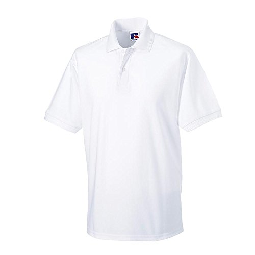 Russell - robustes Pique-Poloshirt - bis Gr. 6XL / White, S S,White