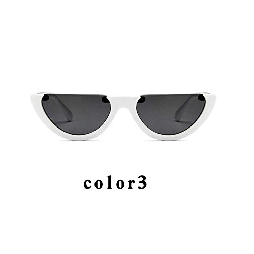 Jeewly Klassische Sportsonnenbrille, Sunglasses Cool Sunglasses Trendy Half Frame Rimless Cat's Eye Sunglass Women Clear Sun Glasses