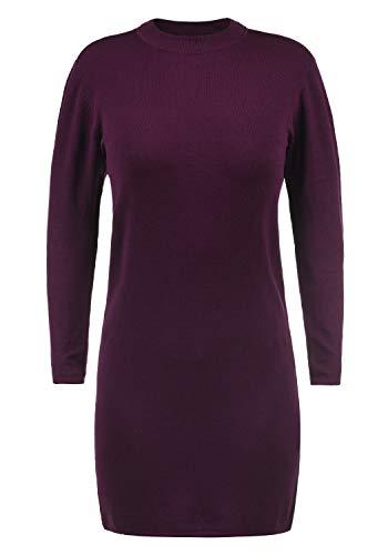 JACQUELINE de YONG Kelly Damen Strickkleid Feinstrickkleid Mit Turtle-Neck Kragen, Größe:M, Farbe:Potent Purple -