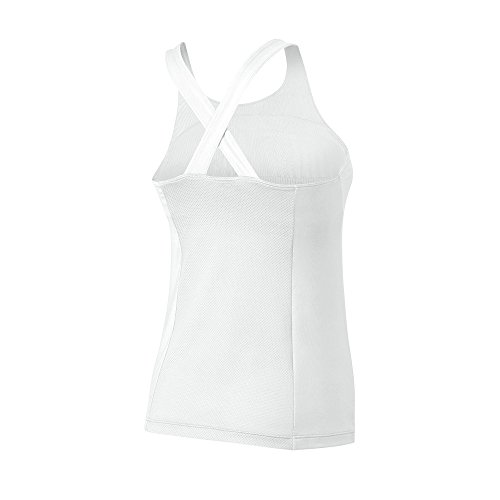 Wilson W Team T-Shirt sans manches de tennis, femme White / Black / Black