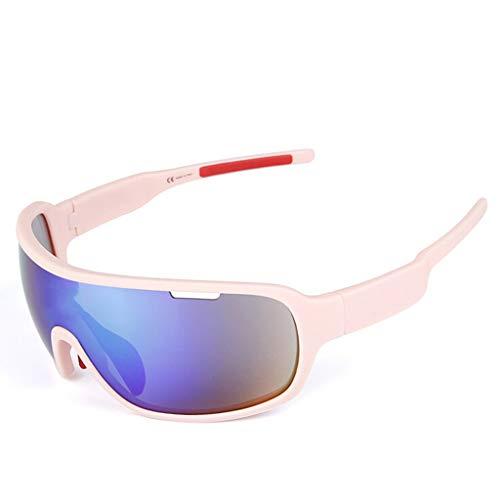 MUTANG Polarisierte Sportbrillen Radfahren Sonnenbrillen für Männer Frauen Fahren Fahren Angeln Golf Baseball Ski Staub und Sandproof und Impact Windschutzscheibe (Farbe : F)