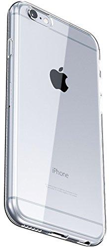 COVERbasics SOFTCASE per Apple iPhone 6 e 6S 4.7 con Bordo Anteriore Salvaschermo Cover Custodia Bumper Morbida Trasparente Crystal Clear HD TPU Silicone Gel Gomma Robusta Solida Antiurto