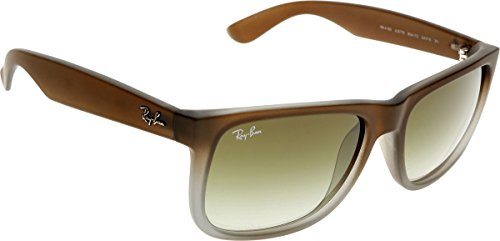 Ray-ban - justin, occhiali da sole da uomo, brown satin 854/7z 54, 54