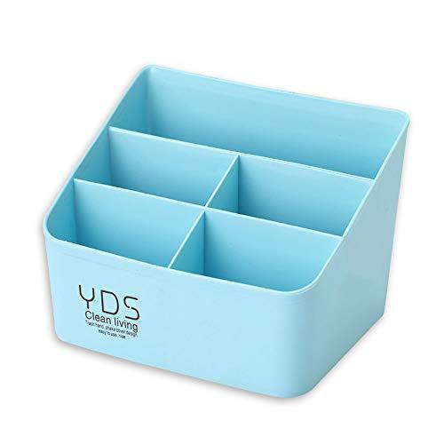 5 Compartments Desktop-Organizer - Makeup Organizer Make-up Pinsel Lippenstift Lip Gloss Halter Dresser Regal Storage Box für Home Office, blau - 19-tool-box