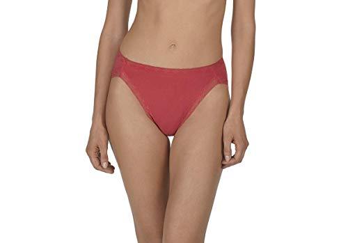 Französisch-cut Unterwäsche (Natori Damen Bliss French Cut Unterwäsche im Bikini-Stil, Tiefes Korallenrot, Groß)